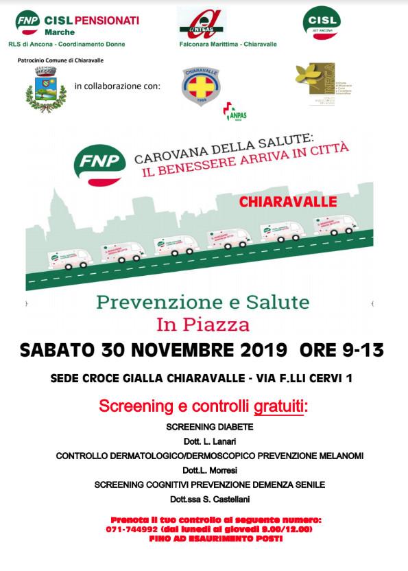 Carovana Della Salute Il Benessere Arriva A Chiaravalle Screening E Controlli Gratuiti In Piazza Cisl Marche
