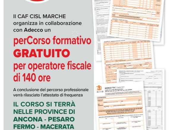 Caf Cisl: Percorso di 140 ore Fiscale e tributario. Aperte le iscrizioni per il 2021