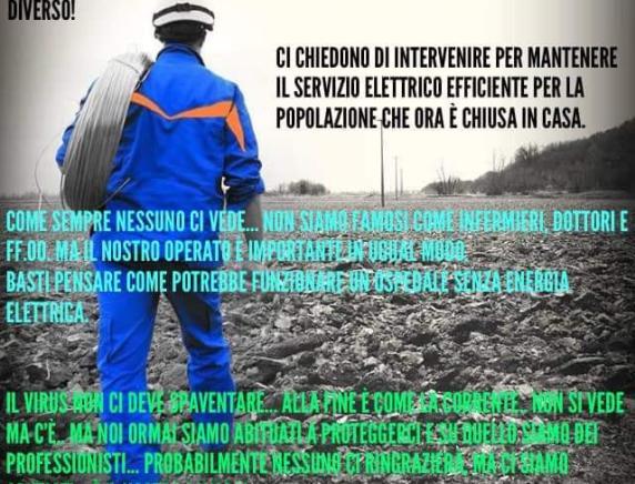 """Emergenza Covid 19, Flaei Cisl Marche """"Più sicurezza per i lavoratori delle aziende elettriche"""""""