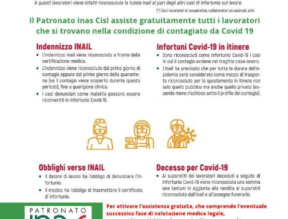 Contagio da Coronavirus sul luogo di lavoro: la Inas Cisl Marche assiste gratuitamente tutti i lavoratori che contraggono il Covid 19