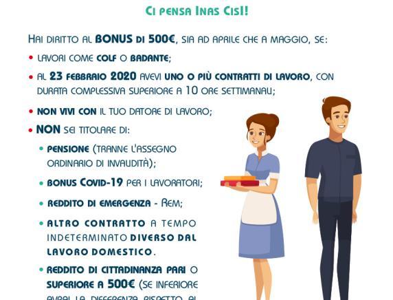 Bonus Colf e Badanti: si può fare domanda con Inas Cisl