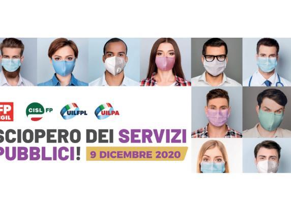 9 dicembre 2020 Sciopero dei servizi pubblici: manifestazione regionale ad Ancona
