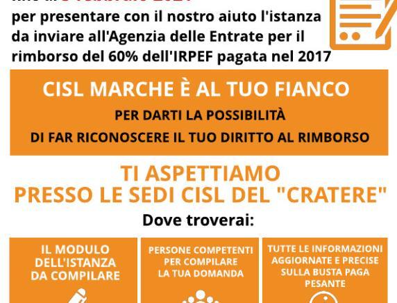 Busta paga pesante: gli iscritti Cisl Marche possono presentare l'istanza di rimborso fino al 5 febbraio
