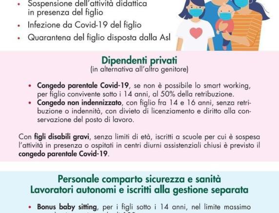 Covid: i congedi per i genitori