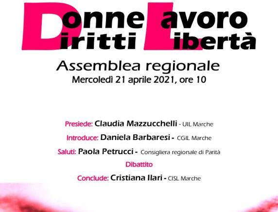"""Donne Diritti Lavoro Libertà"" Assemblea regionale CGIL CISL UIL Marche"