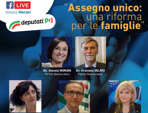 """Sauro Rossi in diretta Facebook su """" Assegno unico: una riforma per le famiglie"""""""