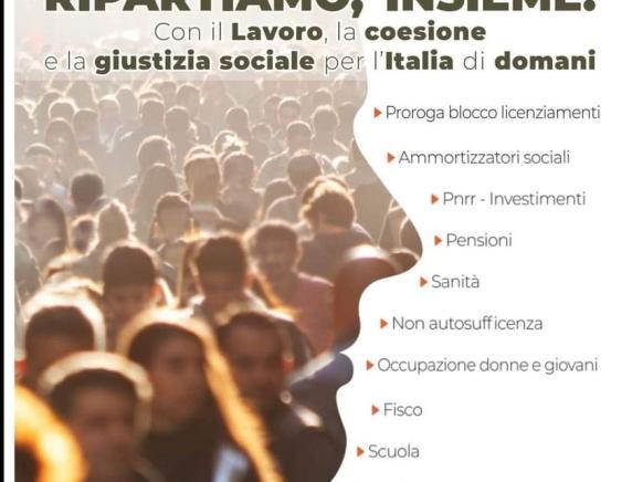 Dl Sostegni. Manifestazione Cgil Cisl Uil 26 giugno 2021