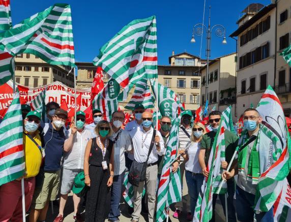 26 giugno Manifestazione Cgil Cisl Uil #RipartiamoInsieme CISL MARCHE in piazza  a Firenze