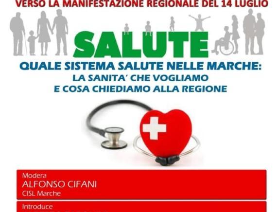 """Attivo unitario a Fermo """"Salute. Quale sistema salute nelle Marche: la sanità che vogliamo e che cosa chiediamo alla Regione"""""""