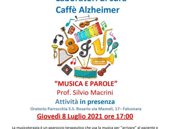 """""""Musica e parole """" Laboratorio di cura Caffè Alzheimer"""