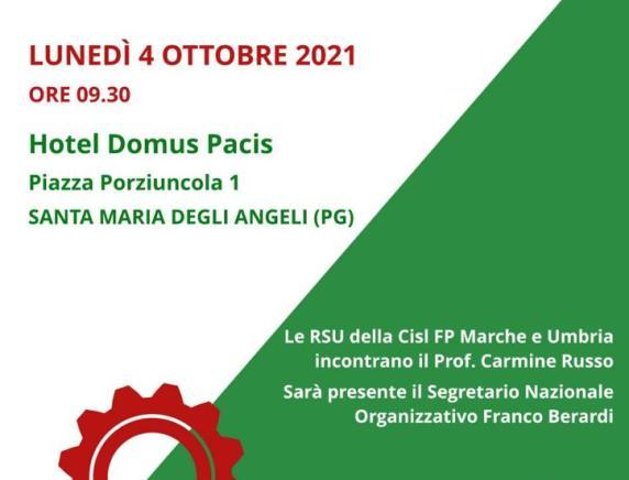 Oltre cento delegati RSU sanità e pubblico impiego CISL FP Marche ad Assisi per il rilancio della contrattazione e partecipazione sindacale