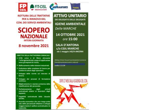 Igiene ambientale nelle Marche: attivo unitario in vista dello sciopero nazionale