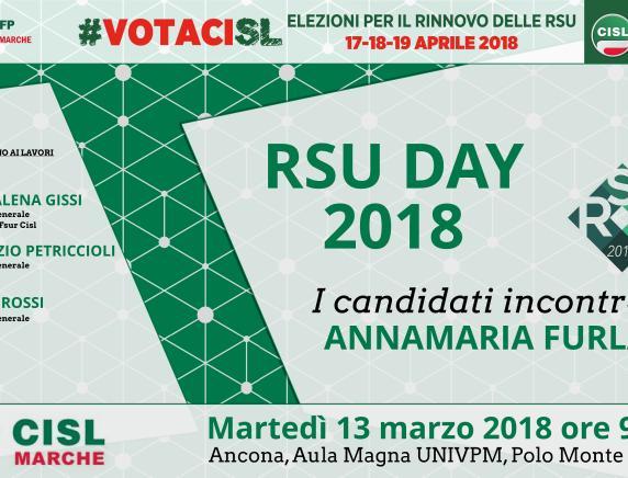 Rsu Day 2018: Annamaria Furlan apre ad Ancona la campagna per le elezioni dei rappresentanti dei lavoratori di Pubblico impiego, Scuola, Università e Ricerca